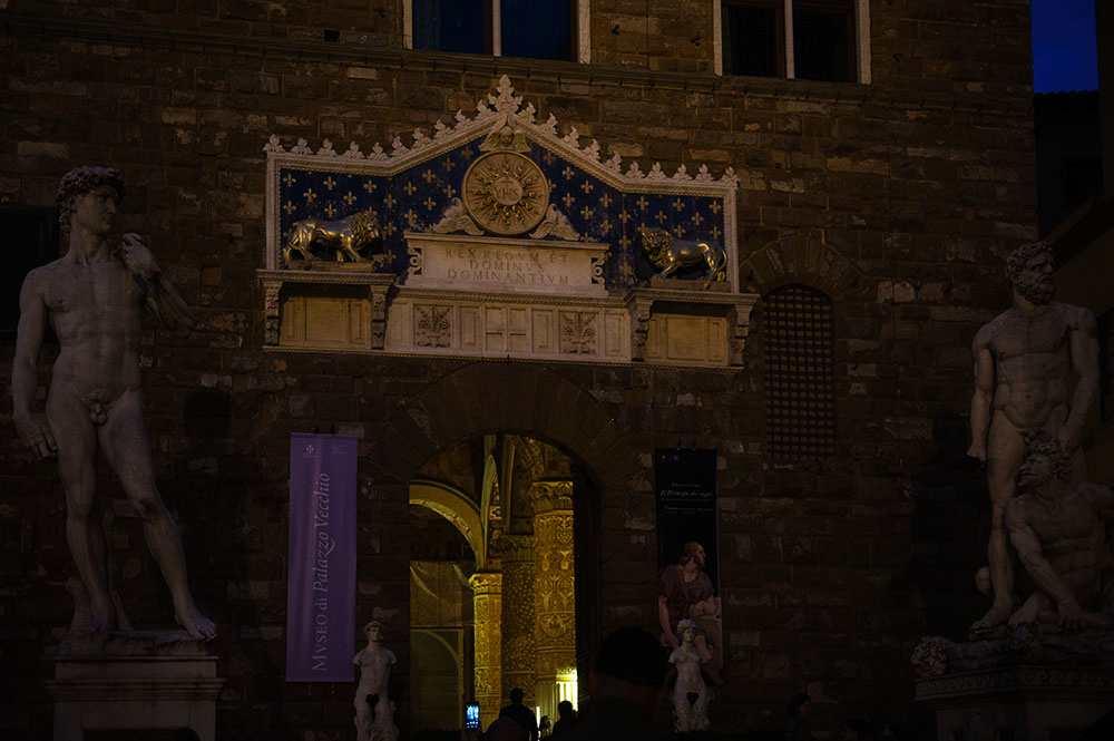 florence, at night, italy, renaissance, city, dark, blue, palazzo vecchio