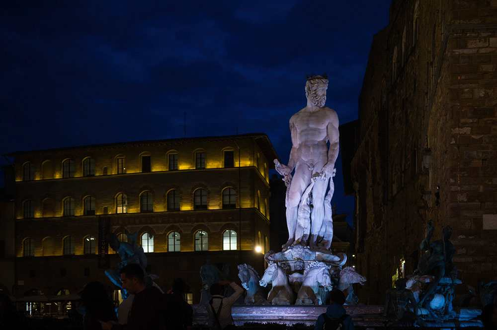 florence, at night, italy, renaissance, city, dark, blue, mchelangelo