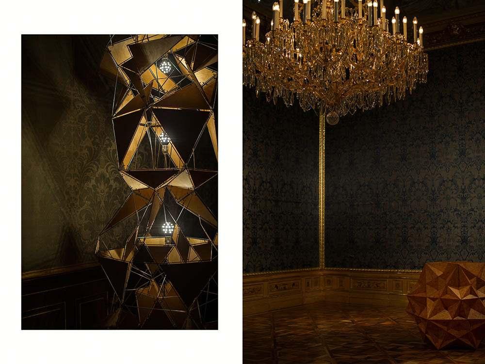 olafurbaroque, olafur eliasson, winterpalais, belvedere, vienna, exhibition, modern, baroque, installatuion, light