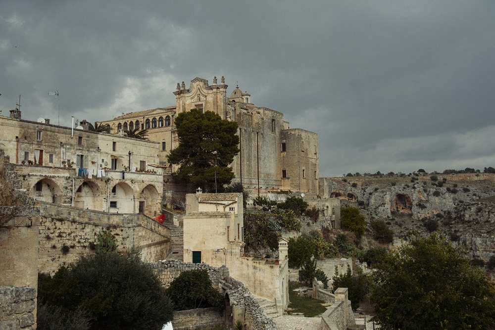 matera, italy, sasso barisano, rock, caves, autumn, church, monstery