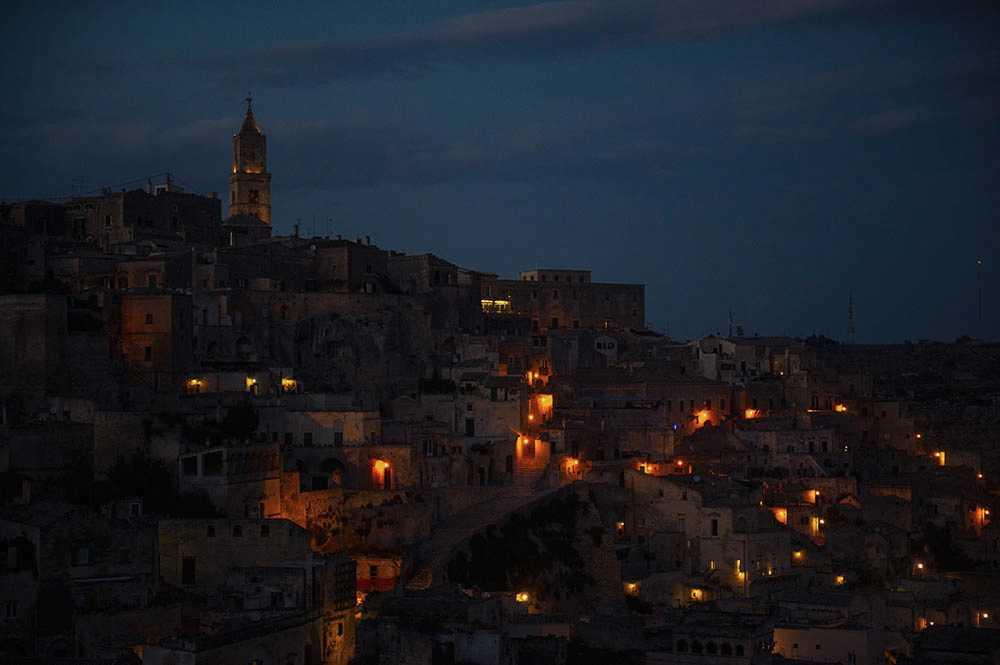 matera, italy, sunset, blue hour, basilicata