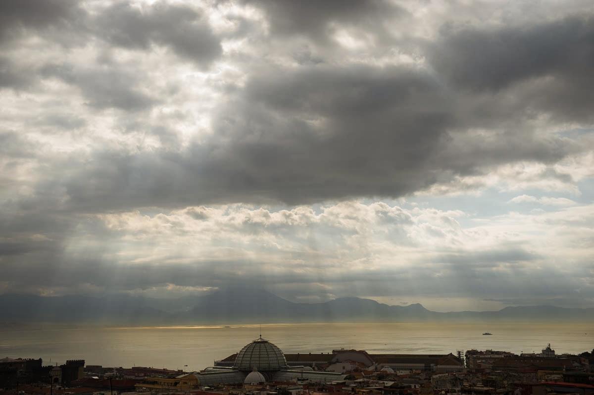 napoli, bay of naples, italy, travel, sun, light
