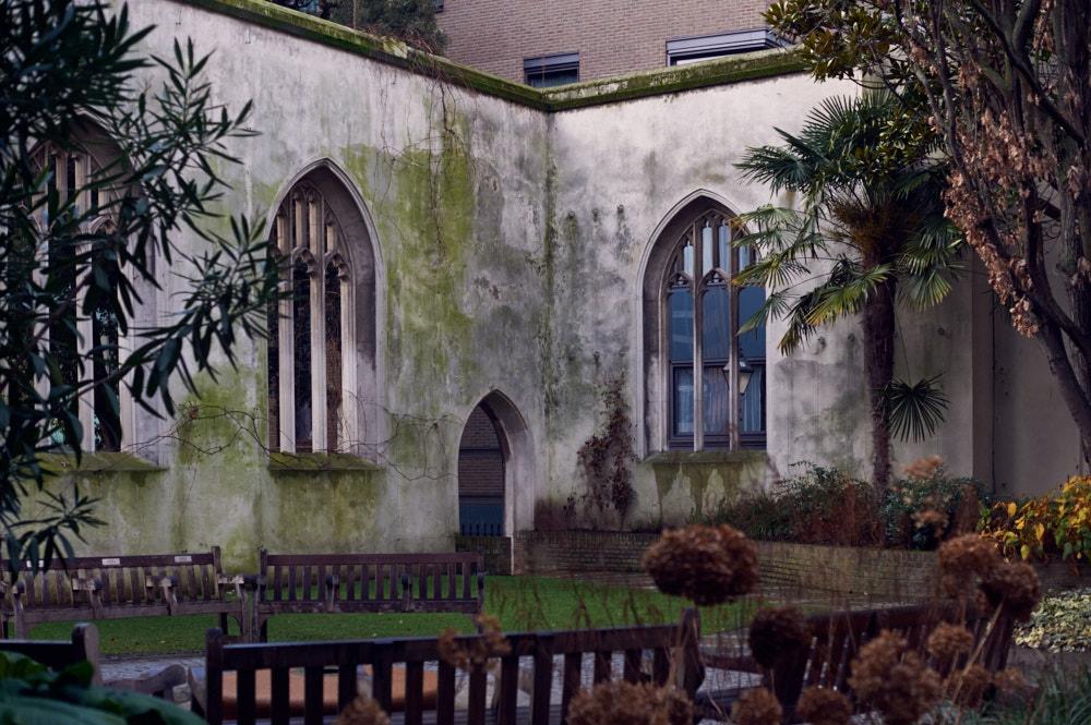 st dustan in the east garden, church, london, uk,