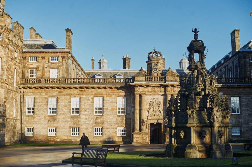 holyrood palace, edinburgh, scotland, uk, windsors, royal, adams´seat