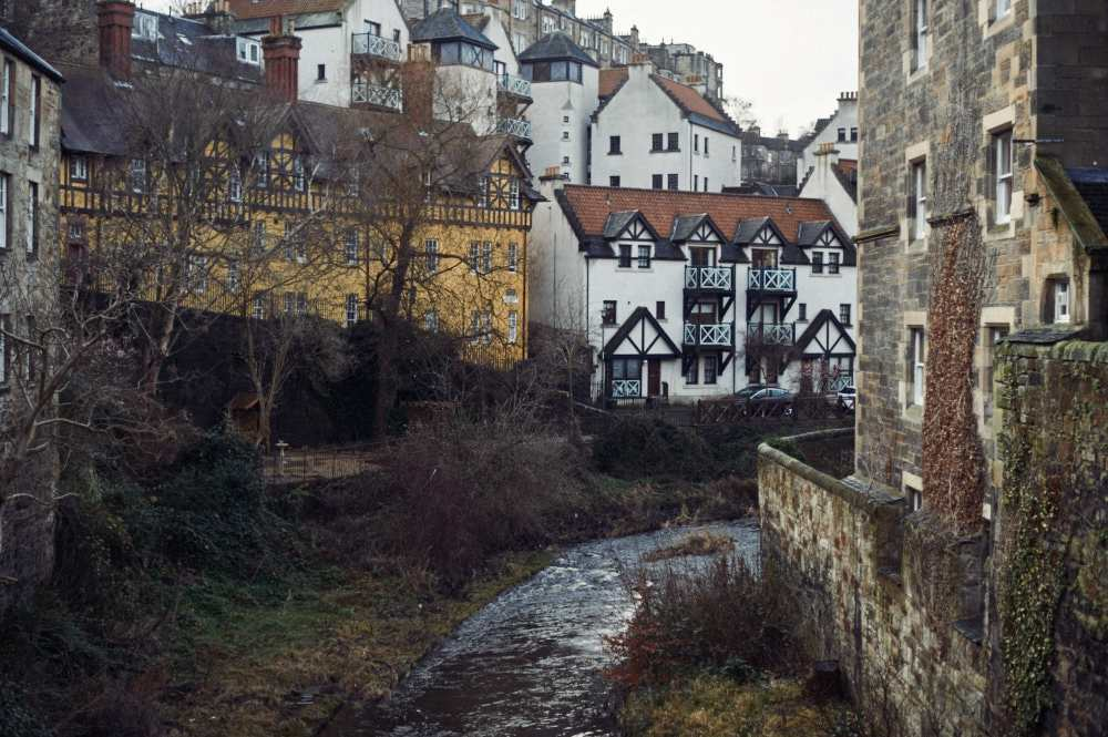 dean village, edinburgh, scotland, uk,