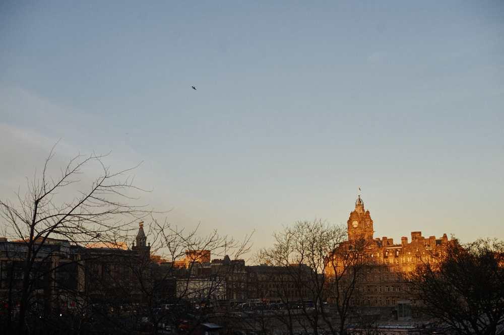edinburgh, castle, scotland, uk, ursula schmitz, sunset