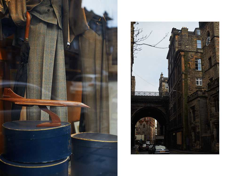 edinburgh, victoria street, scotland, uk