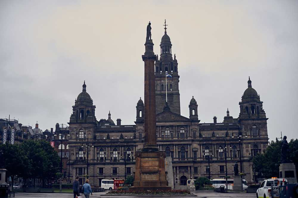 glasgow, scotland, uk, rain, travel