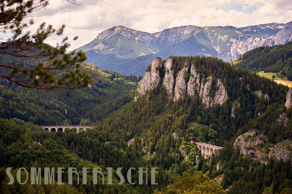 sommerfrische, semmering, niederösterreich, kultursommer semmering, 20 schilling blick, viadukt, oebb, österreich