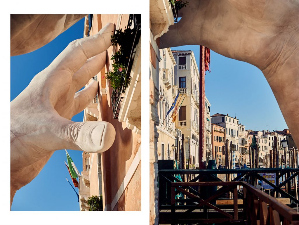 lorenzo quinn, support, venice, biennale, italy