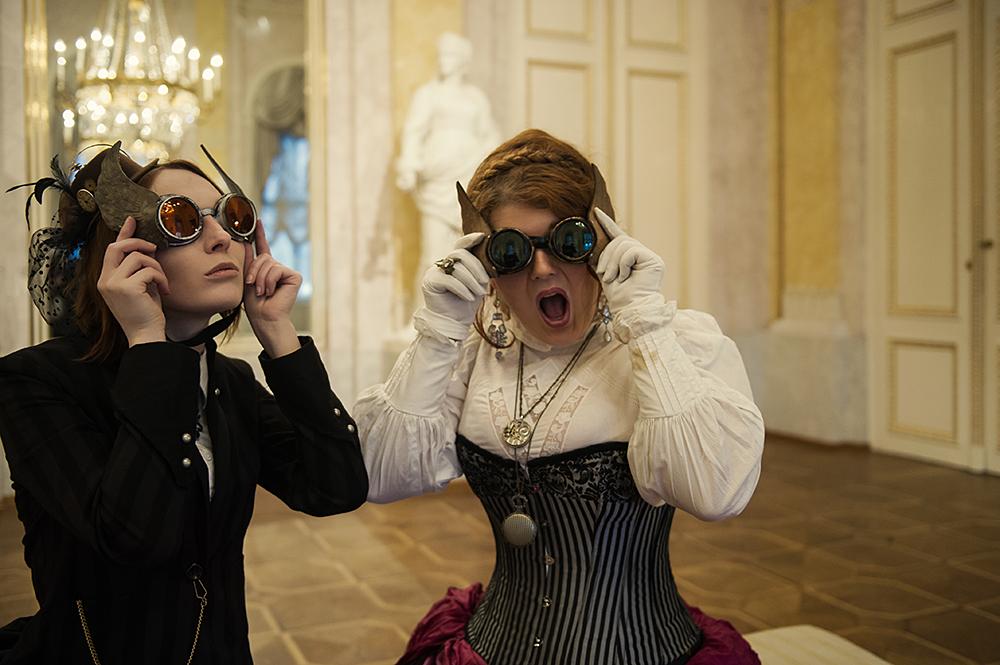 albertina, musensaal, victorian ladies, steampunk, photography, vienna