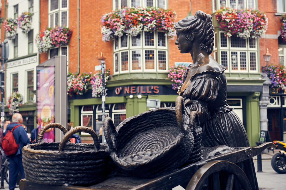 dublin, ireland, travel, molly malone