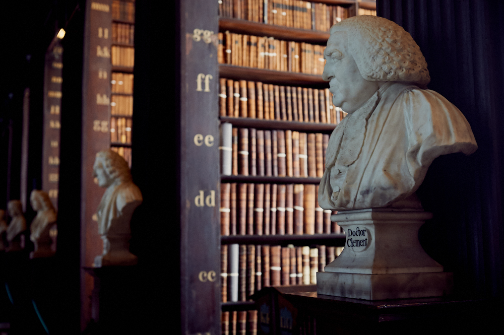 trinity college, dublin, ireland, old library, long room,