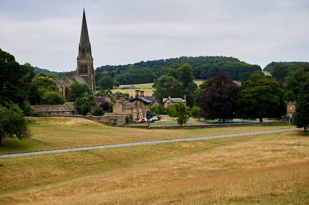 bakewell, edensor, chatsworth estate, peak district, england, uk, ursulaschmitz