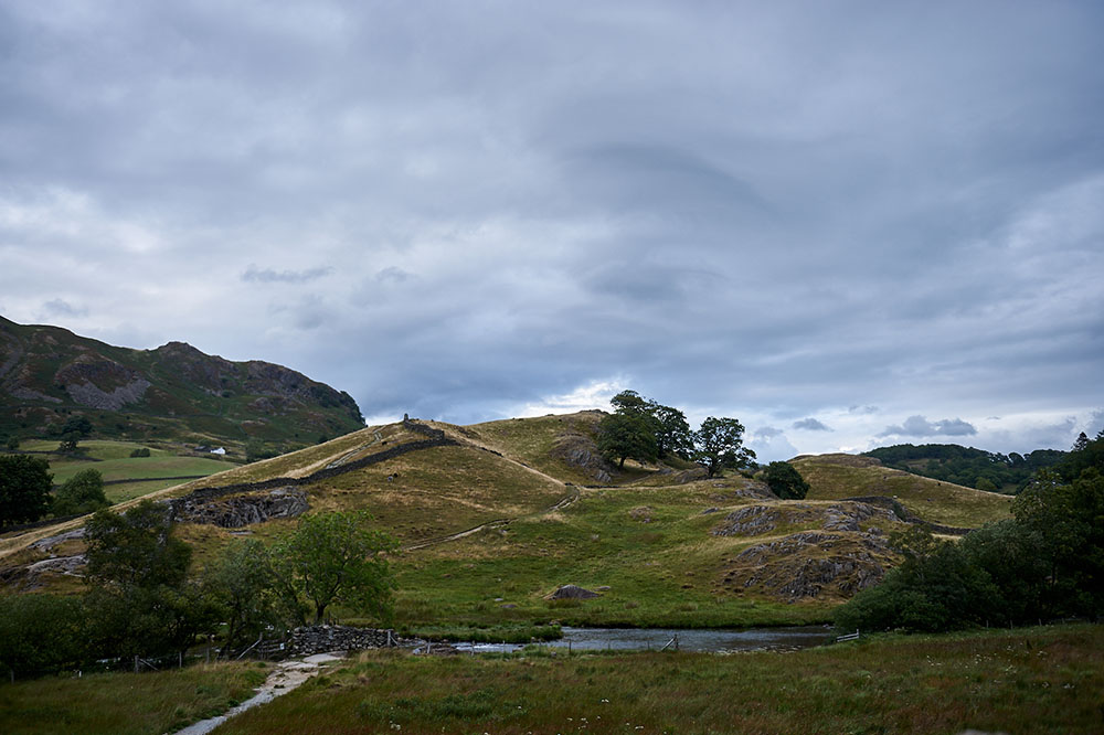little langdale, lake district, slaters bridge, high park farm, unesco heritage, national park, cumbria, england, evening, uk, my british summer, ursula schmitz