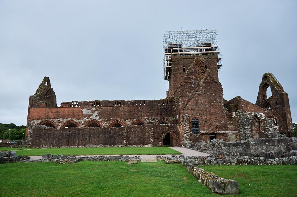 sweetheart abbey, scotland, uk, ruins, dumfries, galloway, national trust of scotland