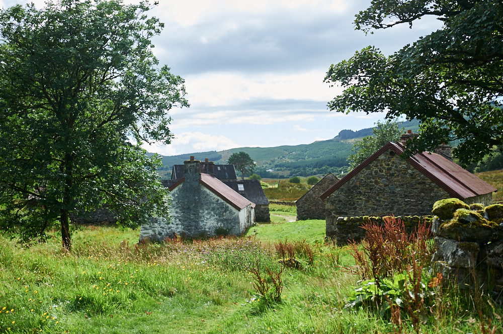 Auchindrain, croft, township, village, museum, scotland, argyll, uk, my british summer, cottages