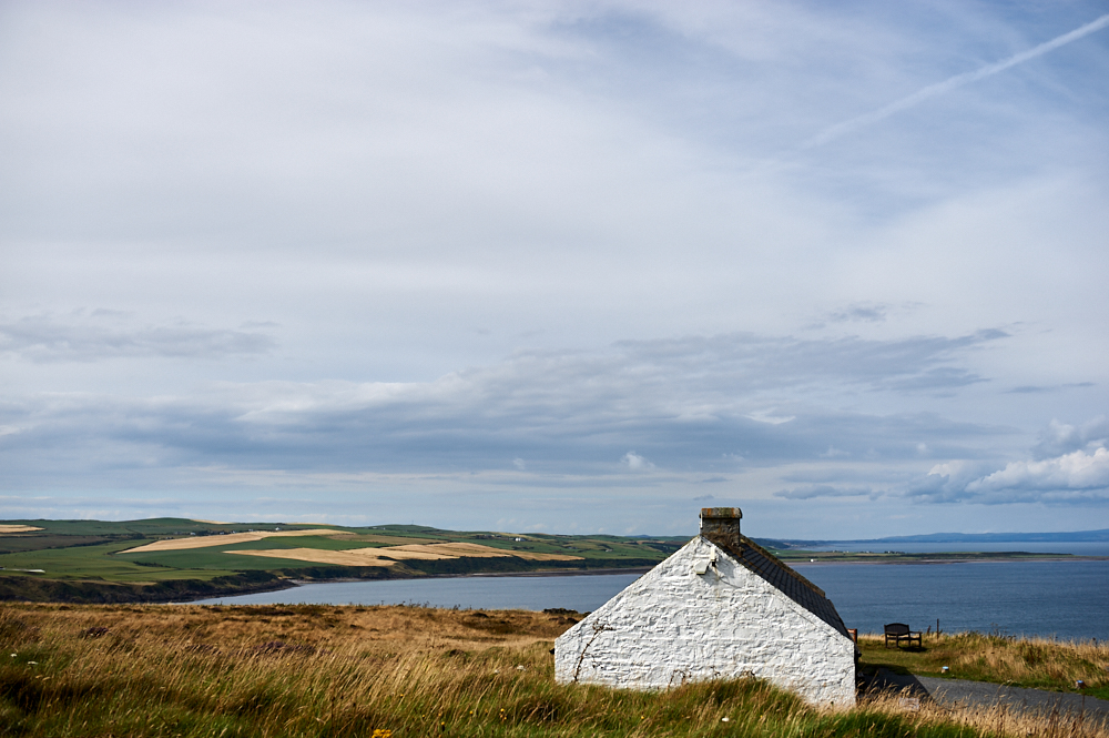 mull of galloway, scotland, summer, sea, ocean, lighthouse, holiday, travel, roadtrip, blue, sky, clouds