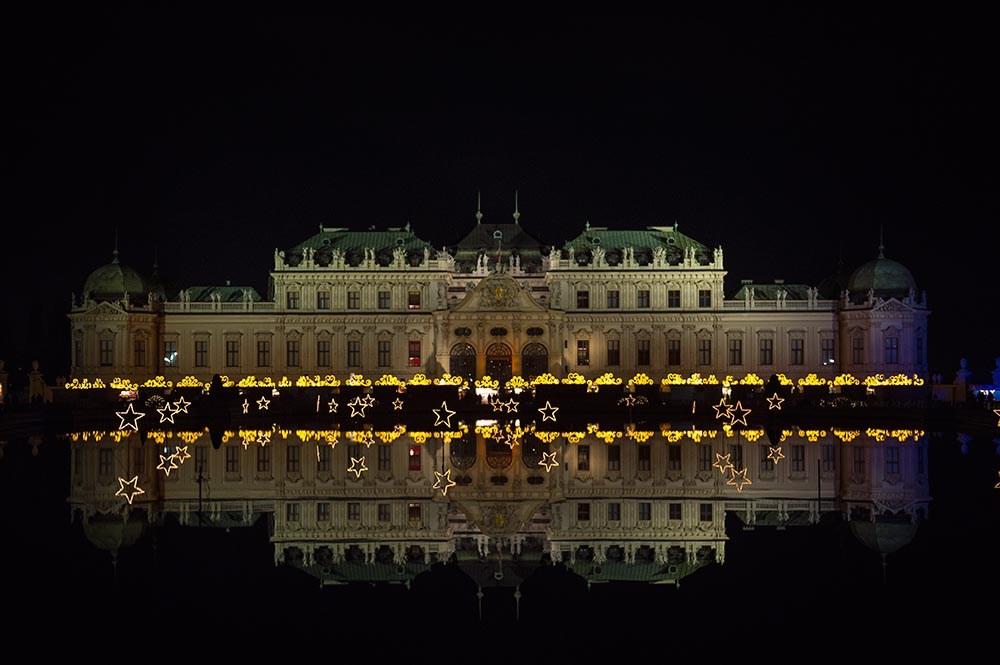 belvedere, christmas in vienna, christmas, destination vienna, lights