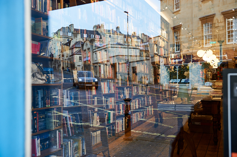 bath, somerset, england, jane austen, town, uk, photos and the city, ursula travels, morning light, bookshop