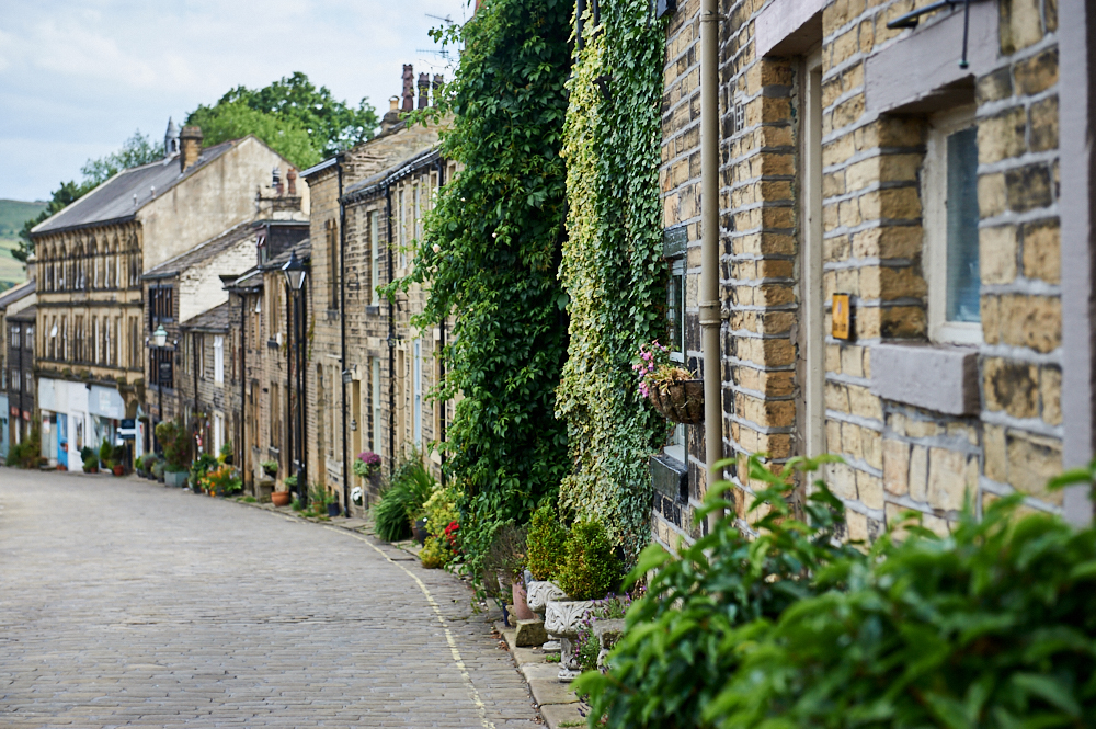 bronte, literature, village, yorkshire, haworth, small, main street, shops, cute, holiday, travel, cobblestone, england, photos and the city