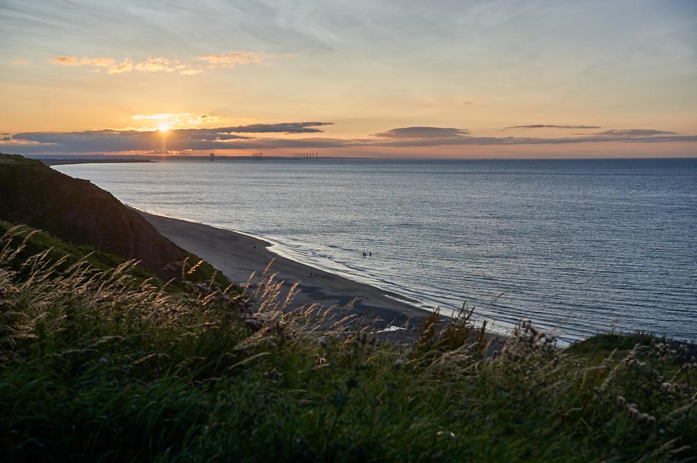 saltburn, yorkshire, sea, coast, beach. sunset, travel, photos and the city, england, uk, united kingdom, my british summer, travelblog, best beach in england, village, town