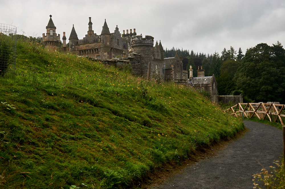Abbotsford House, the home of Sir Walter Scott near Galashiels in the Scottish Borders, Scotland