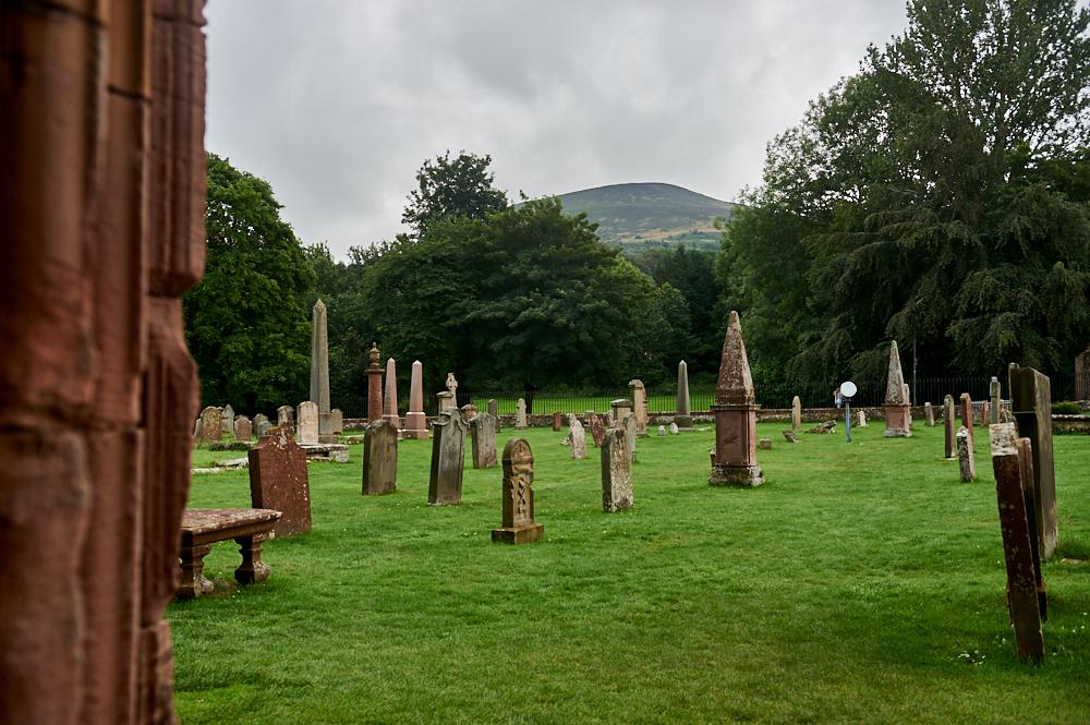 Melrose Abbey in the Scottish Borders, Scotland, United Kingdom
