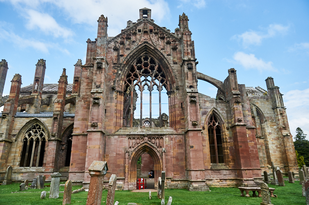 Melrose Abbey in the Scottish Borders, Scotland, United Kingdom