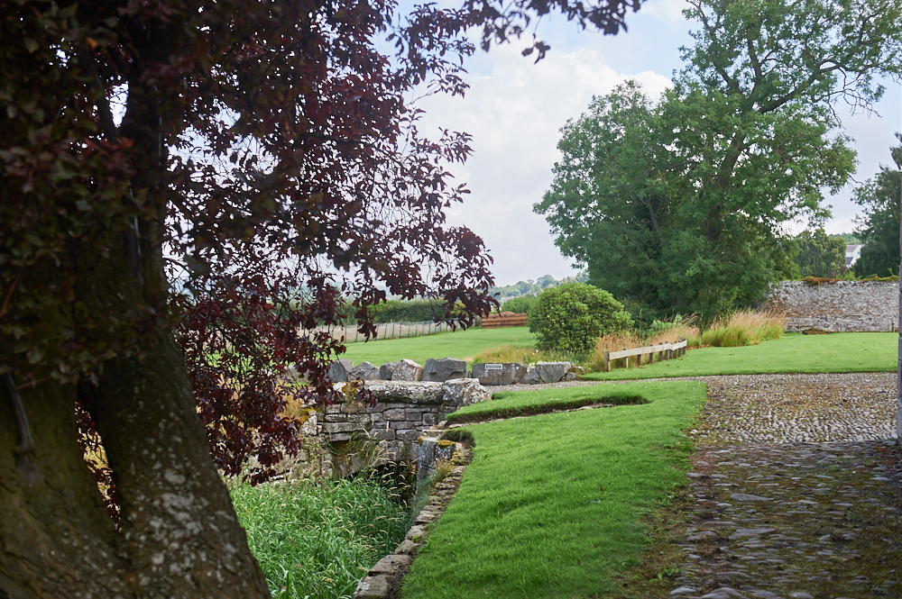 The Harmony Garden next to Melrose Abbey in the Scottish Borders, Scotland, United Kingdom