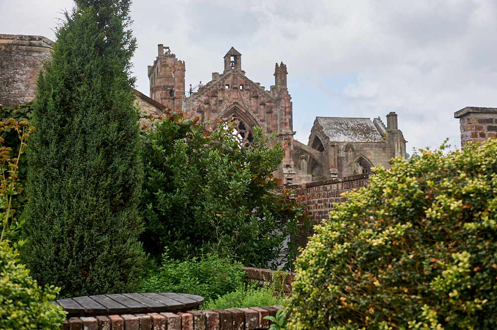 Priorwood Garden next to Melrose Abbey in the Scottish Borders, Scotland, United Kingdom