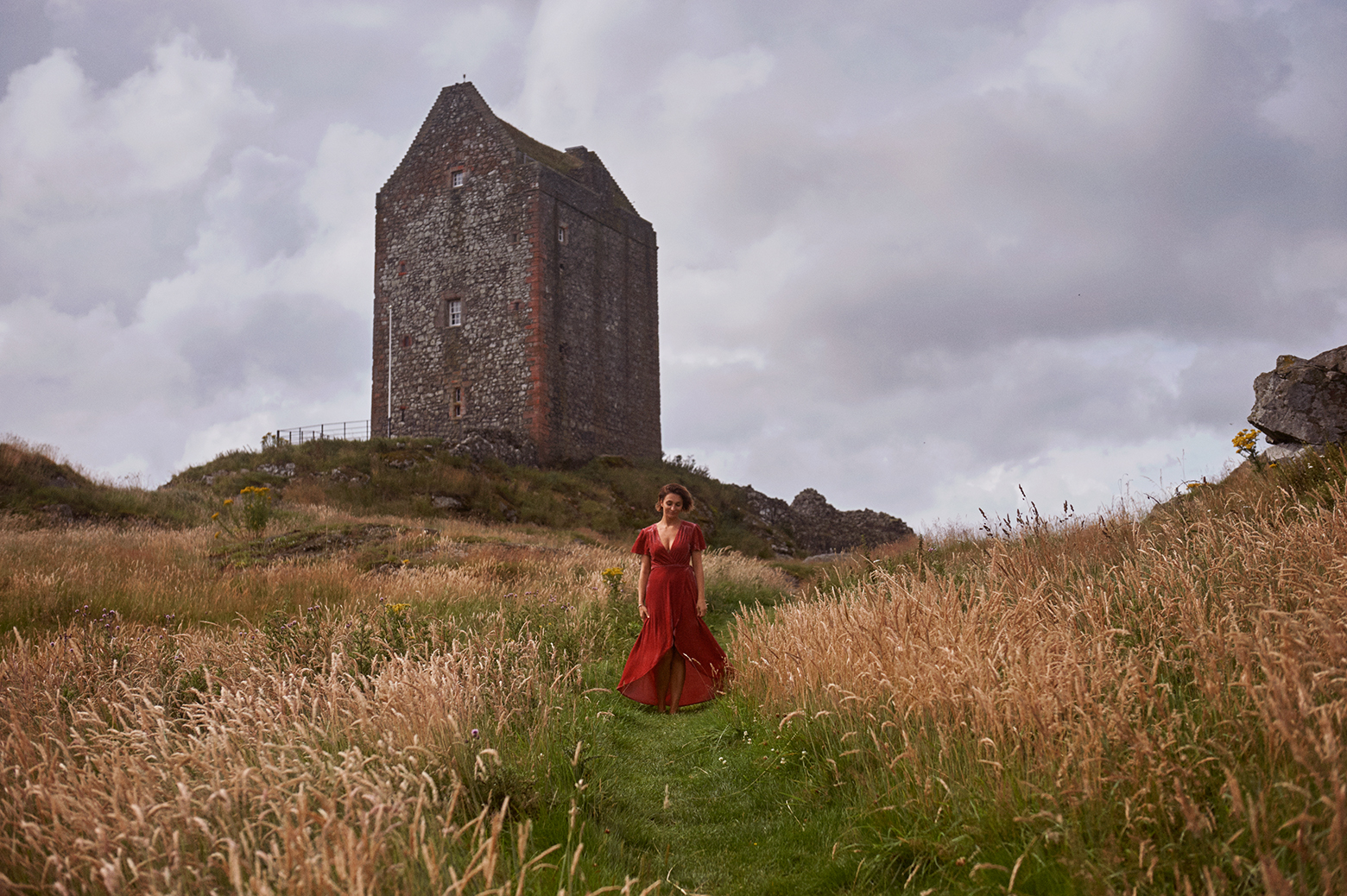 Destination portrait at Smailholm Tower near Kelso in the Scottish Borders