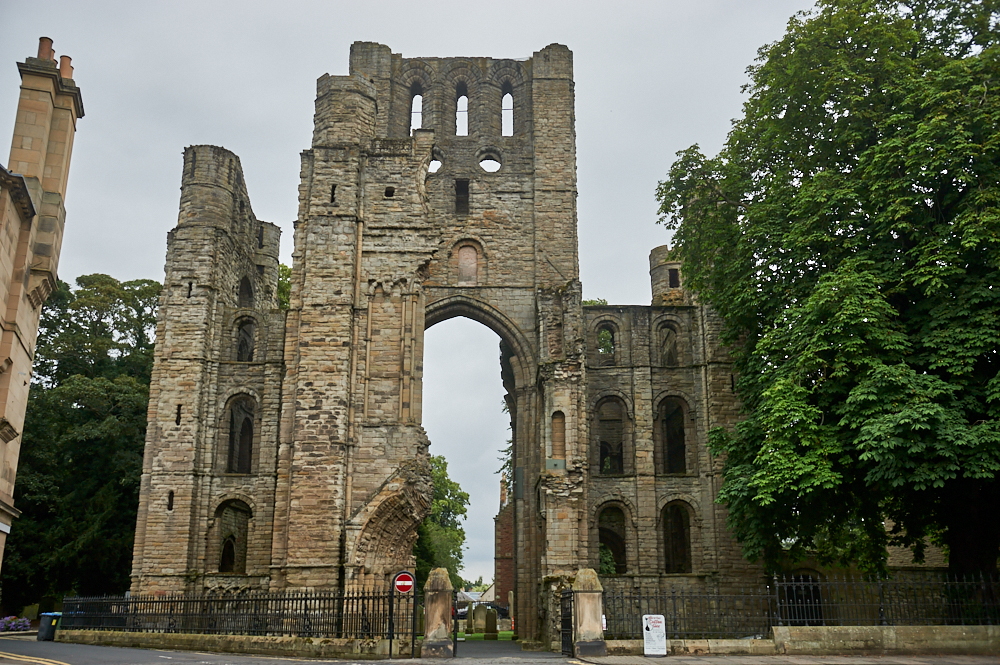 Kelso Abbey in the town Kelso in the Scottish Borders, Scotland - the city with the biggest market square in Scotland!
