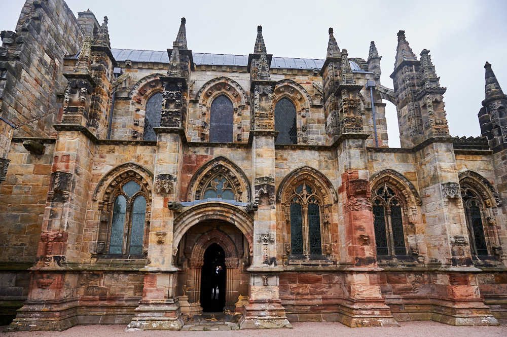 Visiting the beautiful Rosslyn Chapel near Edinburgh in Scotland, featured in Dan Browns thriller Da Vinci Code