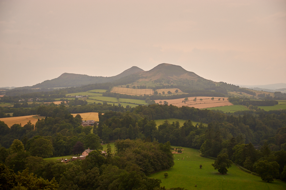 Scott´s View - favourite view of Sir Walter Scott in the Scottish Borders near Melrose
