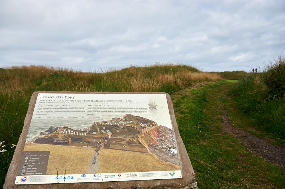 A walk along the stunning coastline near Eyemouth, Scottish Borders, Scotland - view of St. Abbs.