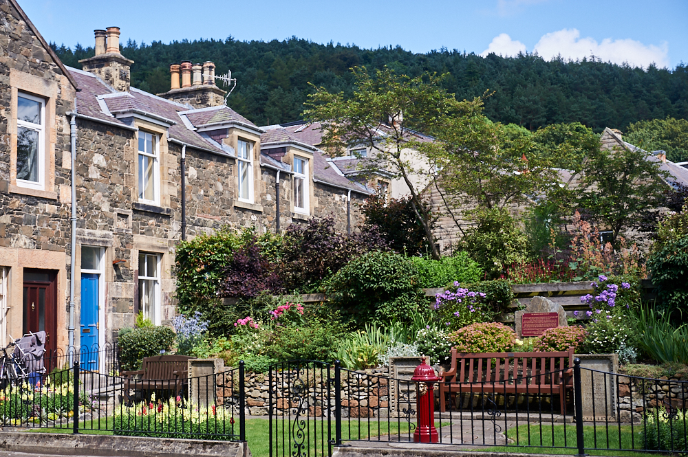Walking through Peebles in the Scottish Borders in Scotland, what a lovely little town.