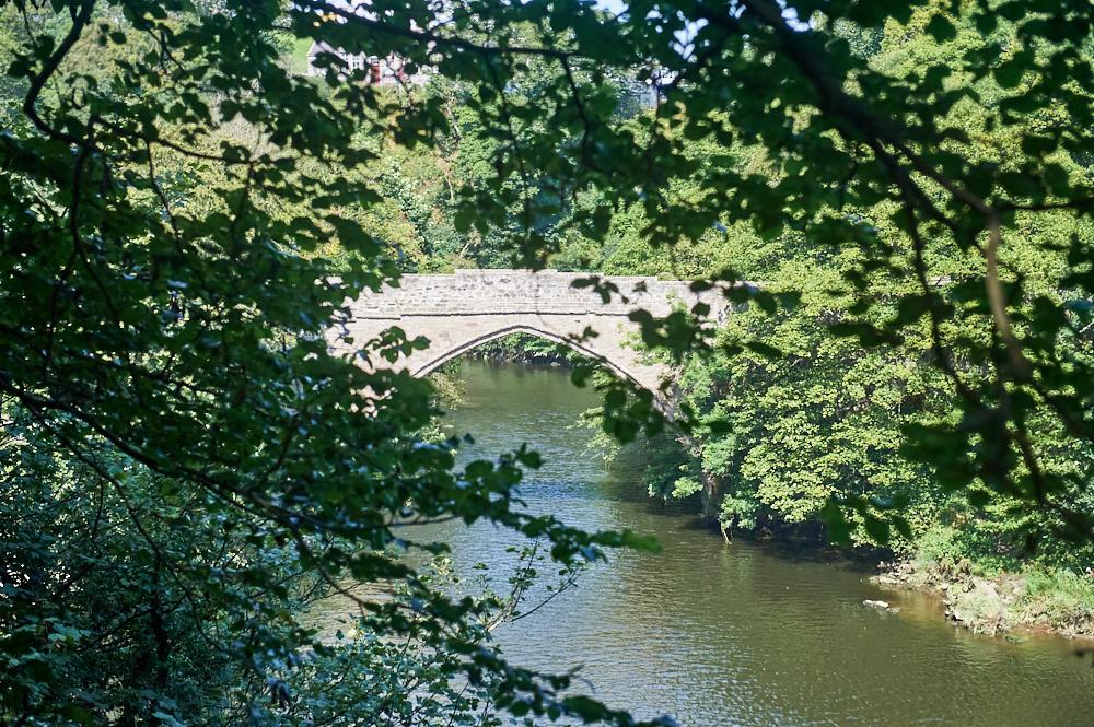 The old Brig o' Balgownie in Aberdeen, a stunning stone bridge.