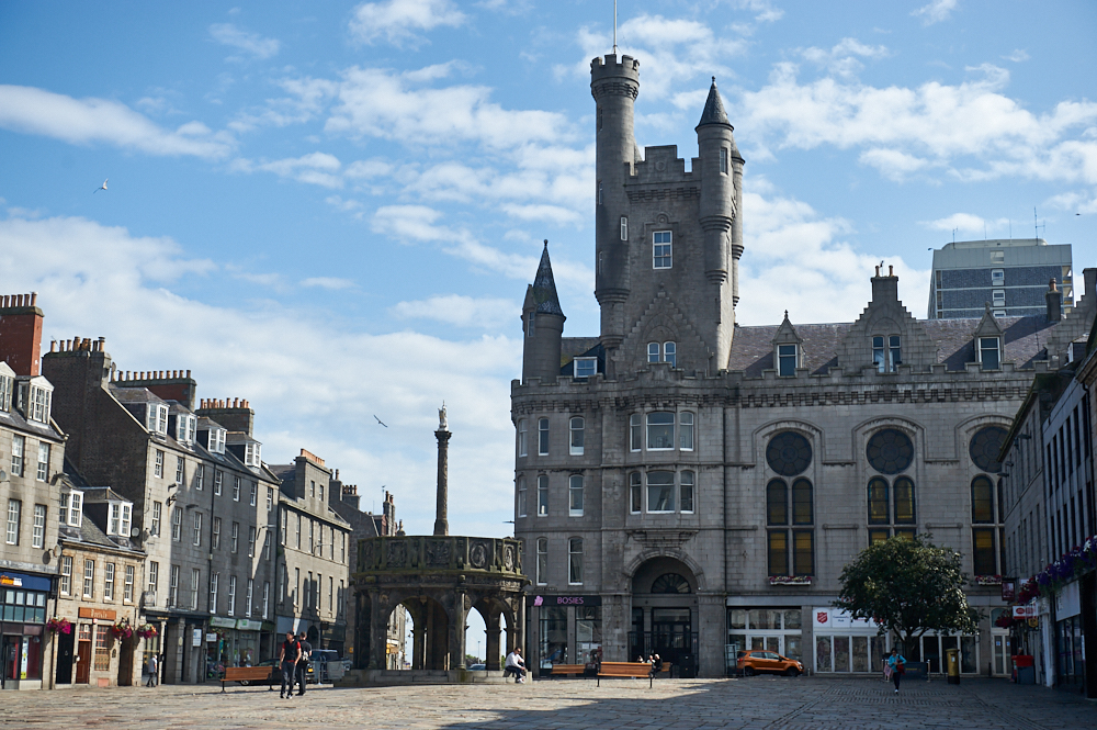 Strolling around Aberdeen and to Old Aberdeen and the university, what a beautiful summer day in Scotland.
