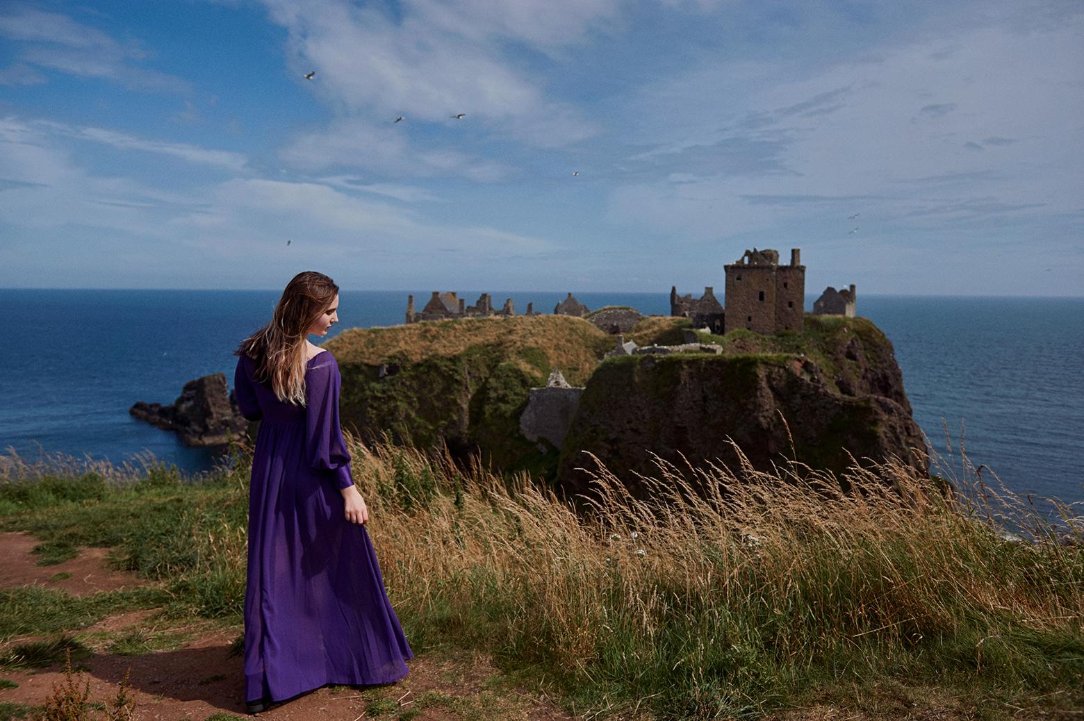 Portrait photography near Dunnottar Castle, near Aberdeen.