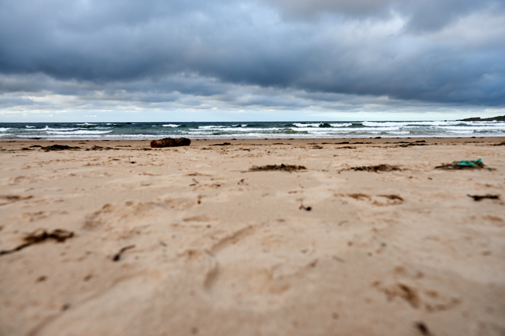 Hopeman beach at the coast of Moray Firth is the ideal place to relax, take a walk and look out for Dolphins.