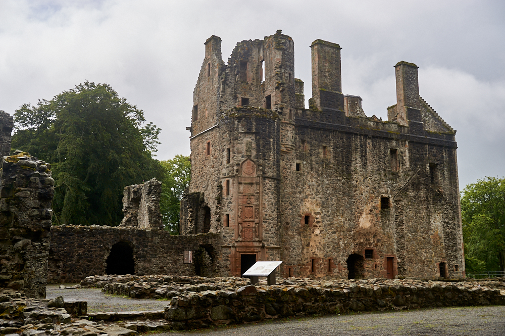 Huntly Castle, the seat of one of medieval and Renaissance Scotland's most powerful families and today a stunning ruin in Aberdeenshire, Scotland.