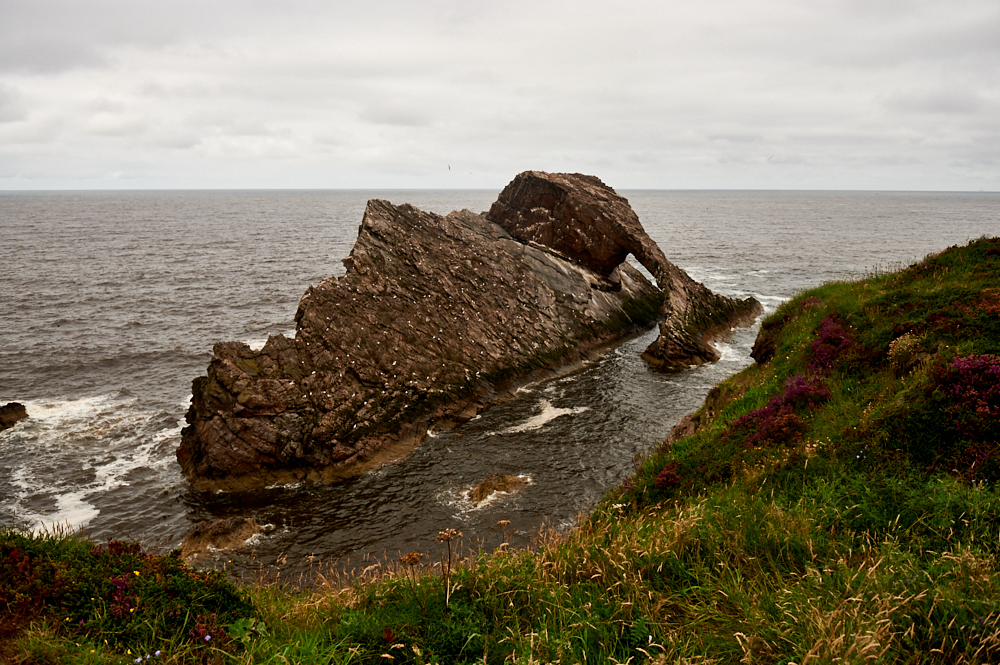 From Fyvie Castle in Aberdeenshire to Bow Fiddle Rock alt the Moray Coast in Scotland.