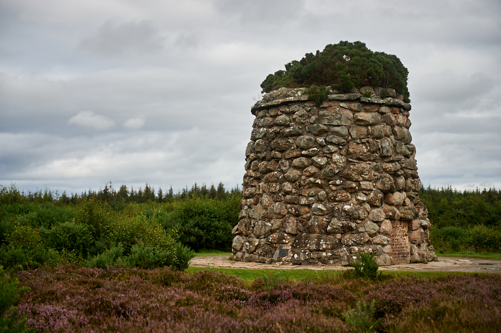Visiting Culloden battlefield in Scotland, near Inverness.