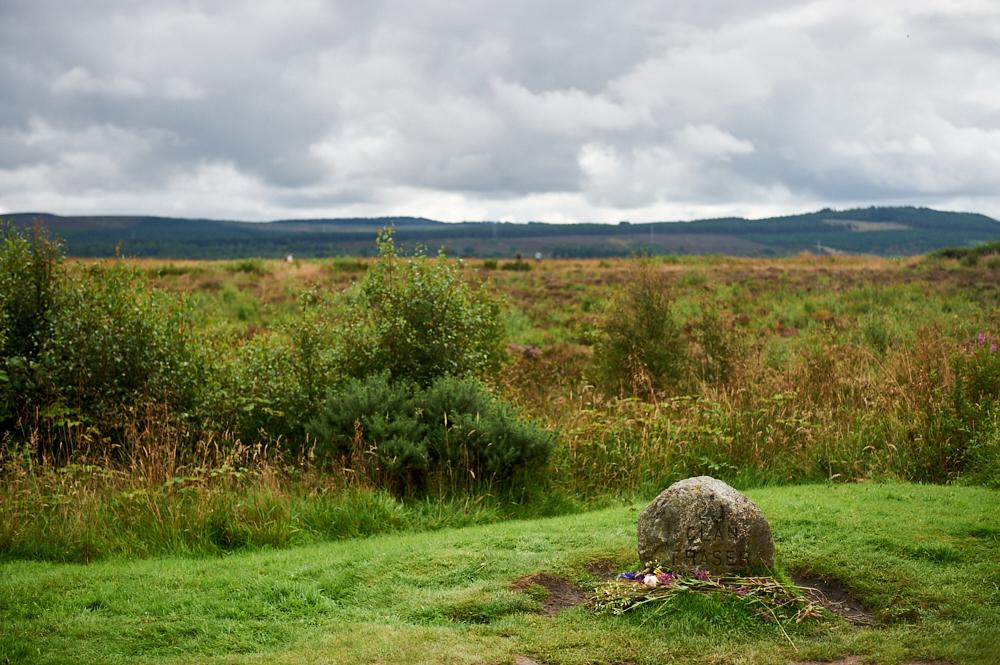 Visiting Culloden battlefield in Scotland, near Inverness.