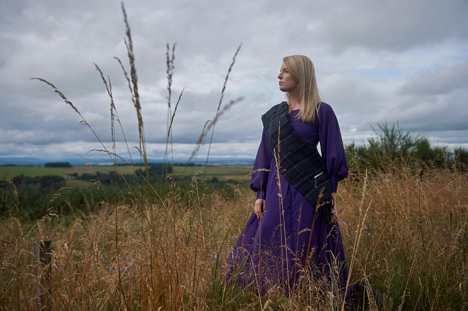 Destination portraits of actress Mikaila Shearer near Inverness, Scotland