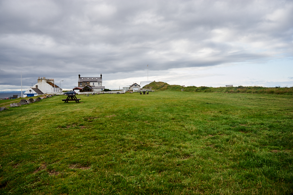 Burghead a site of an important Pictish hill fort along the Moray coast.