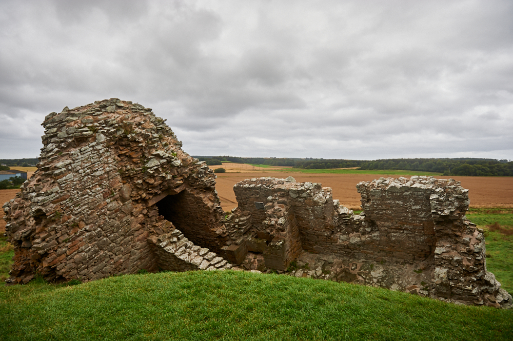 Duffus Castle medieval stronghold of the Moray family near Hopman at the Moray Coast.