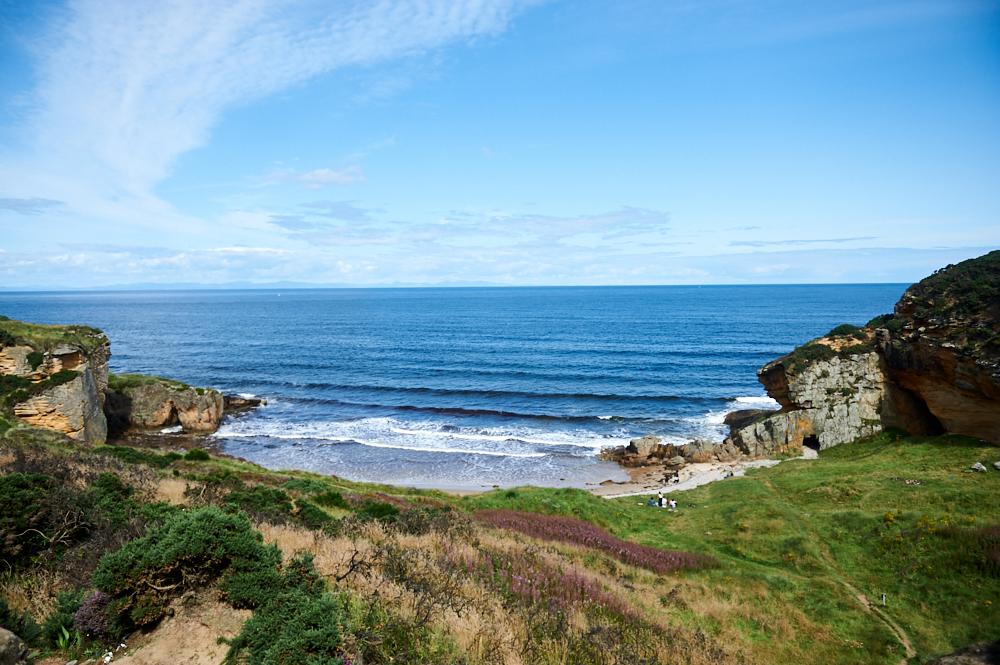 Walking the Moray Coastal Walk between Hopman and Clashach Cove
