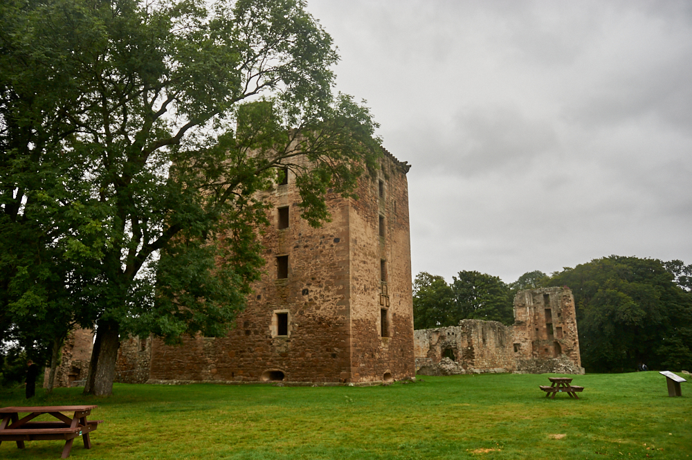 Spynie Palace the fortified residence of the Bishops of Moray near Elgin.